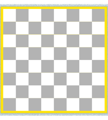 Chess Board White Only With Coloured Border