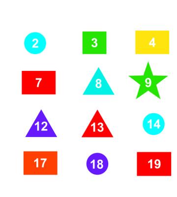 Number Shapes 1 - 20