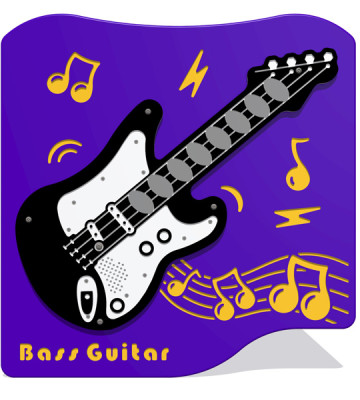 Bass Guitar Music Panel