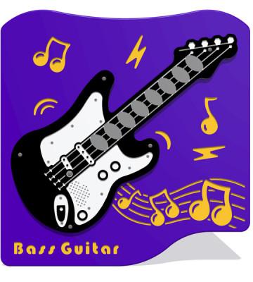 Bass Guitar Music Panel