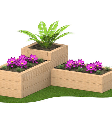 3 Tier Sleeper Planter 2.15 x 2.15 x 780mm - Render 4