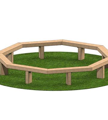 3m Octagonal Tree Seat - Image 1