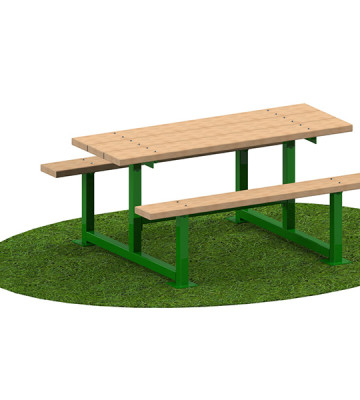 Holt Timber Picnic Bench - Render 1