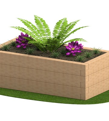 Sleeper Planter 1800 x 950 x 585mm - Render 4