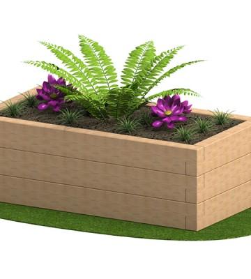 Sleeper Planter 1800 x 950 x 585mm - Render 4