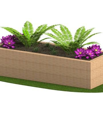 Sleeper Planter 2400 x 950 x 585mm - Render 4