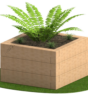 Sleeper Planter 950 x 950 x 780mm - Render 4