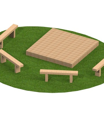 Staged Seating Area - Render 1
