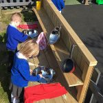 Mud Kitchen at St Aidens School Wythenshaw Facebook Competition winners