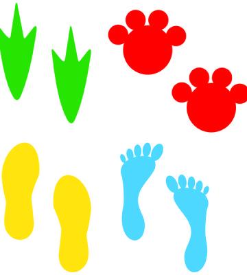 Footprints, Dino & Elephant Prints