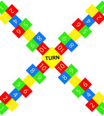 Hopscotch 4 way 1 - 10