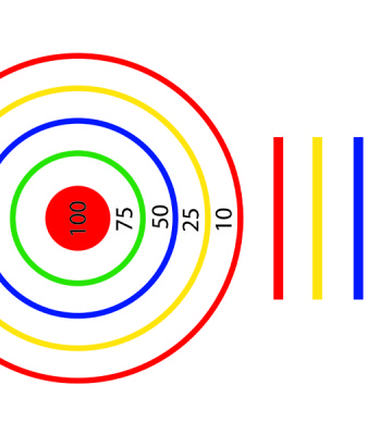Target Circle Complete With Lines