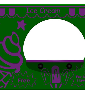 Ice Cream Parlous Play Panel