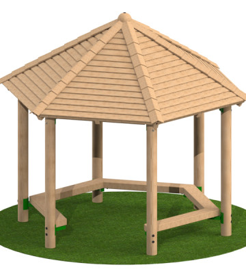 3.0m Hexagonal Shelter with Seats
