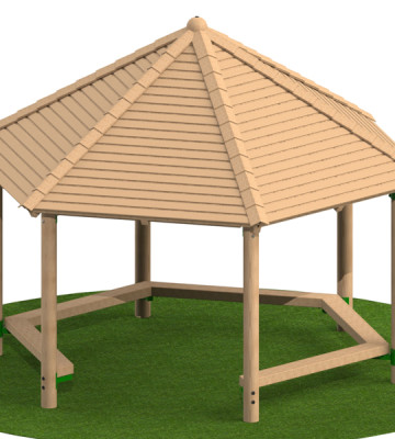 4.0m Shelter with Seats