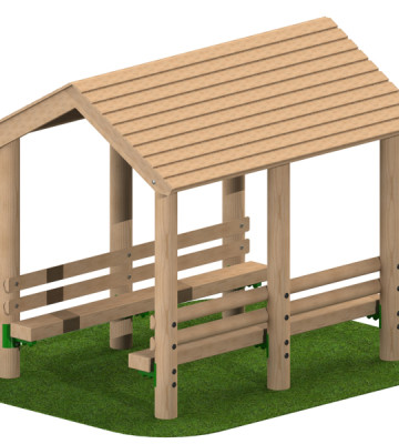 Timber Shelter with Benches
