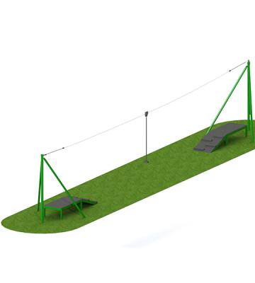 20m Steel 2 Way Aerial Runway - Render 1