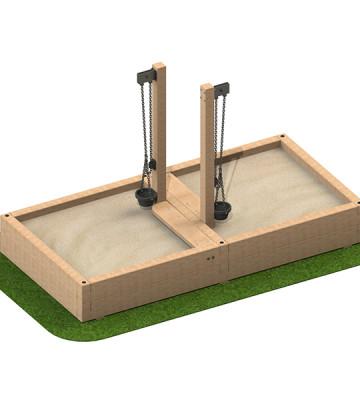 3 x 1.5 x 0.39m Sandpit with Sand Crane - Image 1