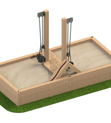 3 x 1.5 x 0.39m Sandpit with Sand Crane and Chute - Image 1