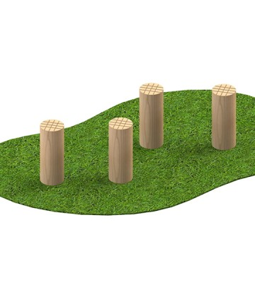 Stepping Logs 6 Inch - Render 1