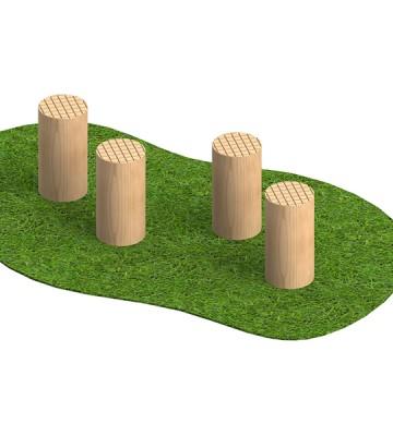 Stepping Logs 8 Inch - Render 1