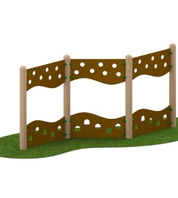 Zig Zag Traverse Wall - Render 1