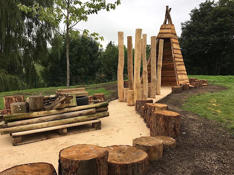 Larch timber tipi